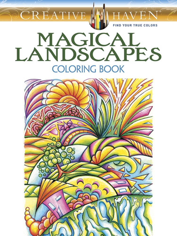 Creative Haven Magical Landscapes Coloring Book Adult