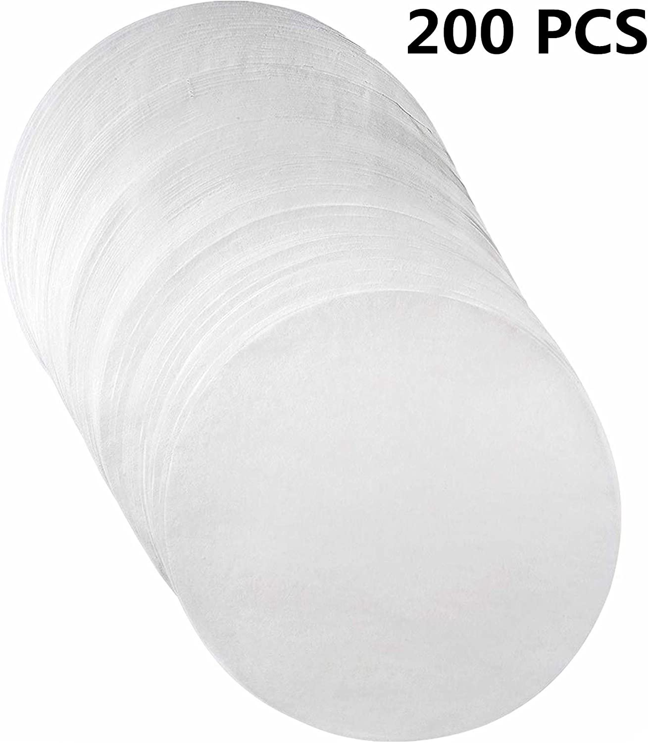 Parchment Paper Baking Circles - 6 inch - 200 Eco-Friendly Pack - Baking Paper Liners for Round Cake Pans Circle Cheesecake, Cooking, Air Fryer