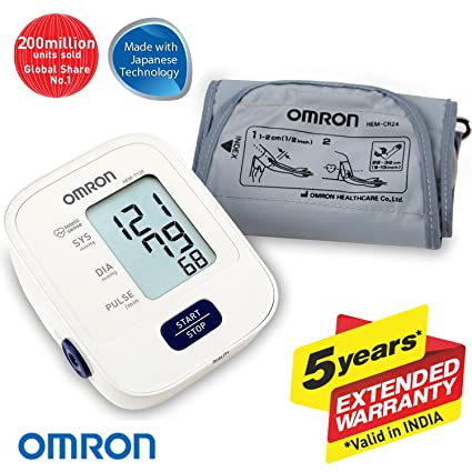 Omron Hem 7120 Fully Automatic Digital Blood Pressure Monitor With