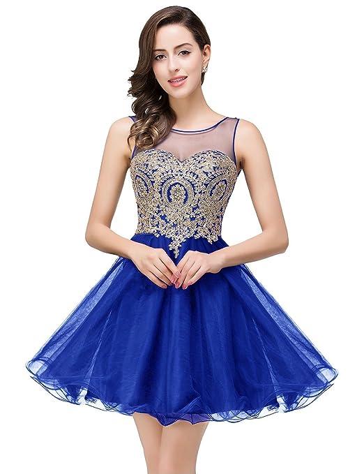 Review MisShow 2018 Women's Cocktail Dresses Crystals Applique Short Prom Dresses