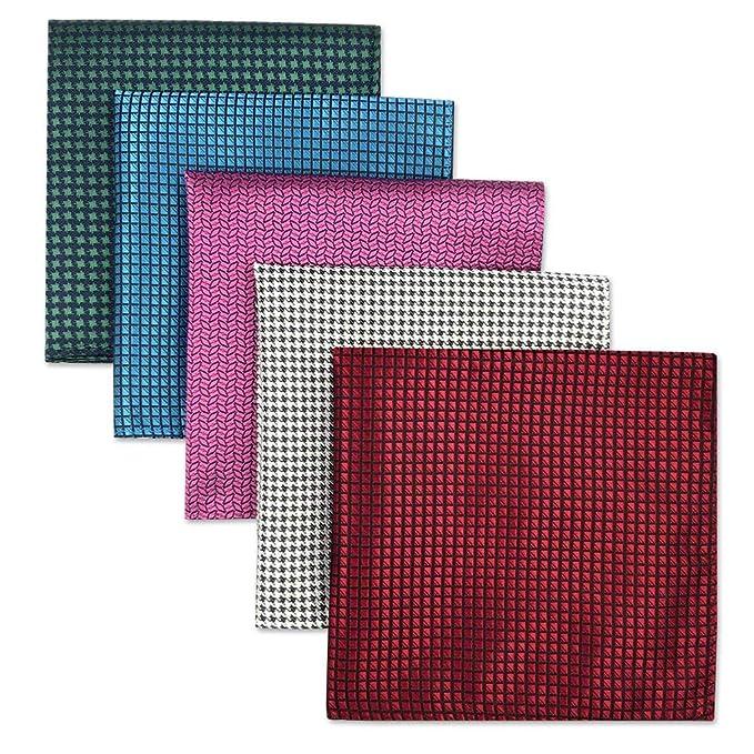 Shlax&Wing 5 Pieces Assorted Pañuelo De Bolsillo Para Hombre Handkerchiefs Set (set41)