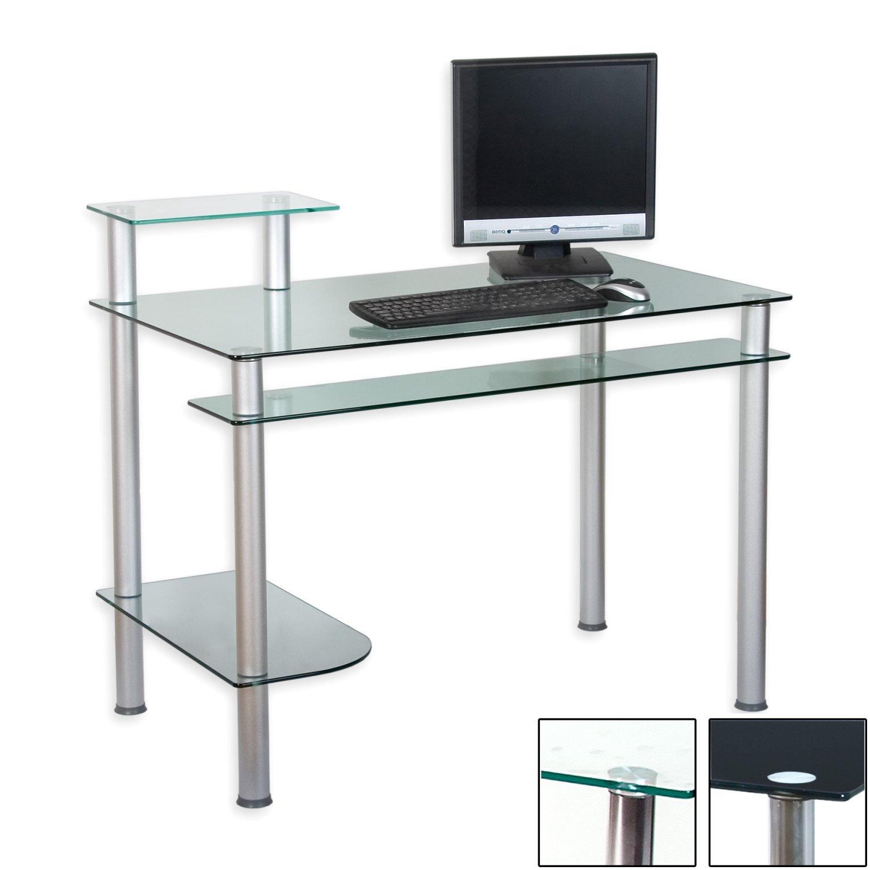 computertisch glas. Black Bedroom Furniture Sets. Home Design Ideas