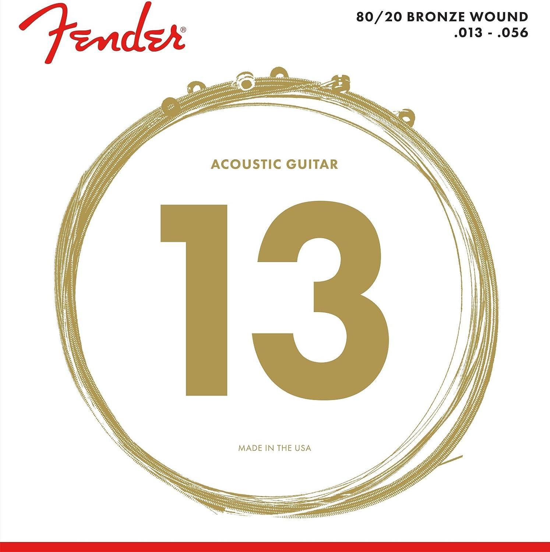 Fender Duratone 80/20 Bronze Cuerdas de guitarra acústica 12-52 ...