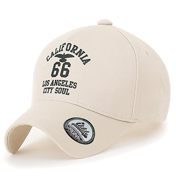 ililily 66 Printed Casual Baseball Cap Solid Color Cotton Strap Back Trucker Hat n3GkD