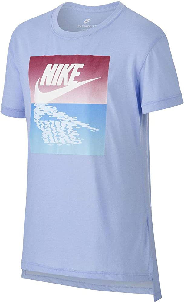 Nike Sportswear Camiseta Cuello Redondo Manga Corta Algodón, Poliéster - Camisas y Camisetas (Camiseta, Niños, Femenino, Azul, Imagen, S): Amazon.es: Ropa y accesorios