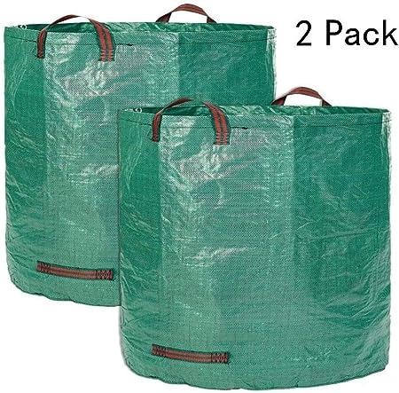 NJYT 500 litros de residuos de jardín Bolsa de Polipropileno for Trabajo Pesado Saco de residuos Reutilizables Jardín (Color : 132Gallons): Amazon.es: Hogar