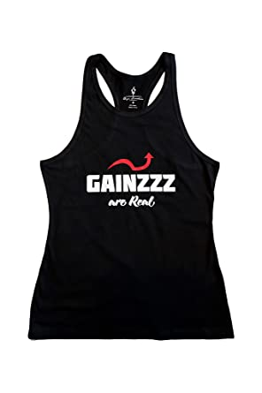 c74f5c2ab3f58 Mens Gainzzz are Real Racerback Stringer Tank Top Cotton T Shirt for Gym  Workout