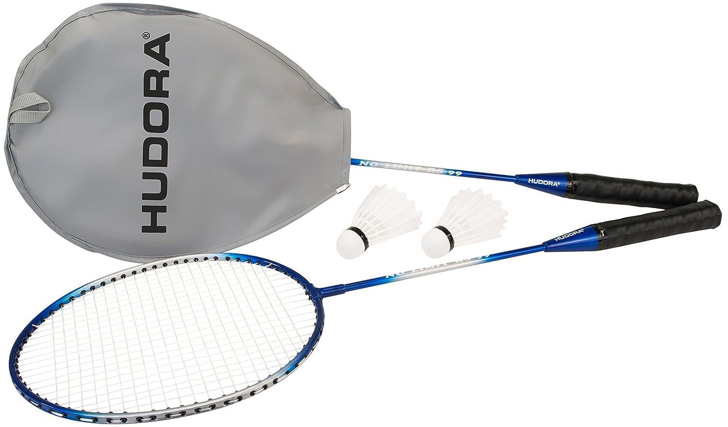 HUDORA Badmintonset No Limit RS-99, 2 Stahlschläger, 2 Federbälle 2 Stahlschläger 2 Federbälle 76411/01