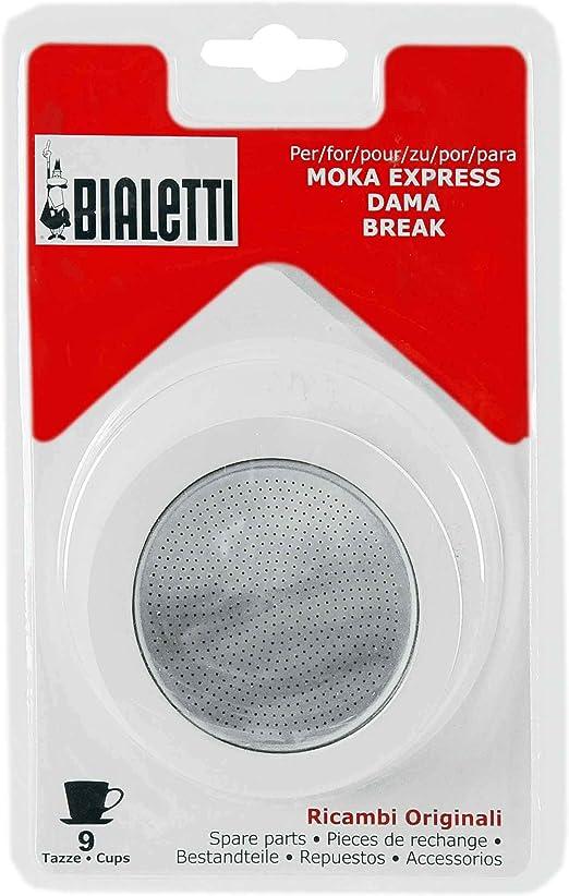 Junta Bialetti MOKA Express 9 tazas).3 con filtro: Amazon.es: Hogar
