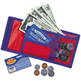 Learning Resources Pretend Play Cash 'N' Carry Wallet, Play Money, Nylon & Velcro Wallet, Basic Math and Money Skills…