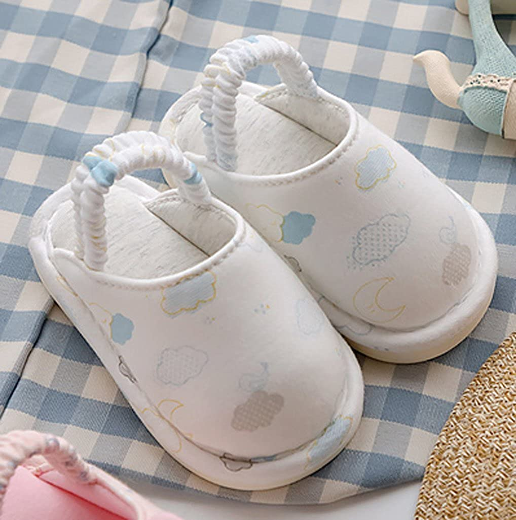 Cwait Kids Cotton Indoor Slippers Bedroom Cute Slippers Toddler
