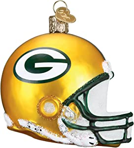 Old World Christmas Glass Ornament Green Bay Packers Helmet