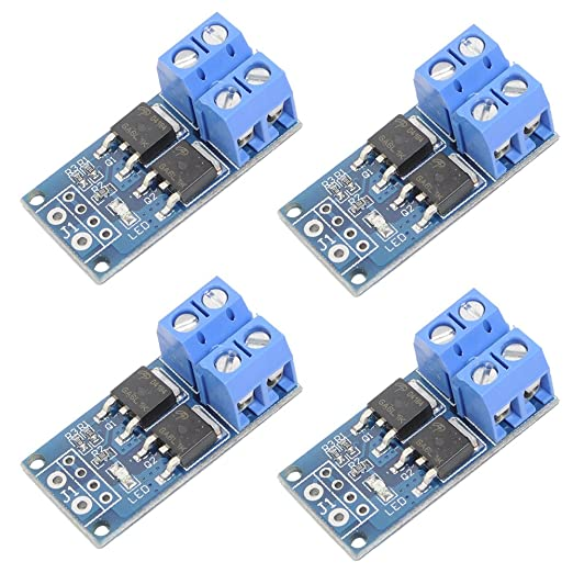 Icstation DC 5V-36V 400W Dual MOS Transistor Driving Module Switch High Level Trigger PWM 0-20KHz (Pack of 4): Amazon.com: Industrial & Scientific