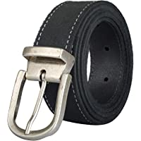 PIERROT - Men's Leather Belt - 30 Colours - Customize with 8 Interchangeable Buckles - Made of Premium Split Leather…