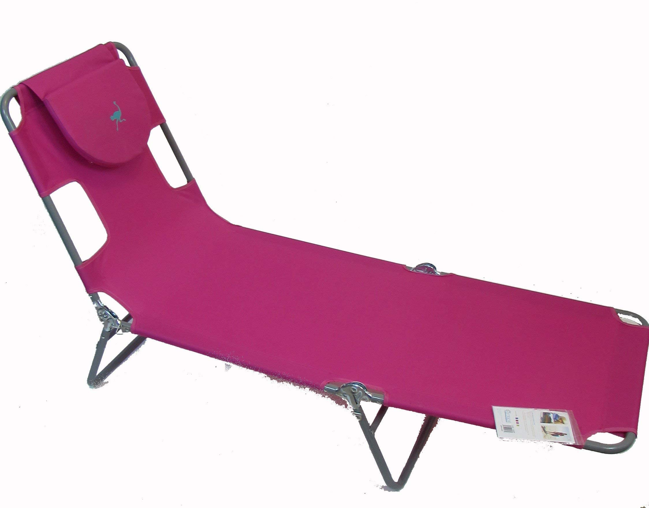 Ostrich Chaise Lounge, Pink (Renewed) by Ostrich