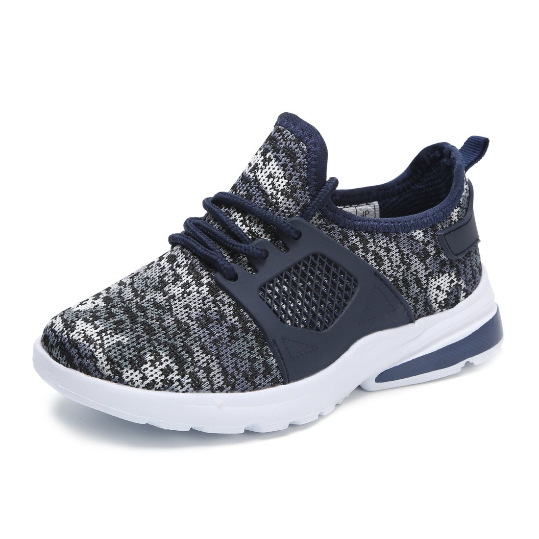 Hawkwell Youth Breathable Camouflage Lace-up Running Shoes(Toddler/Little Kid/Big Kid),Navy Mesh,2 M US Little Kid