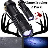 Zoomable RGB Green//Red//UV Hunting Light Tactical For Hog Flashlight Night Deer