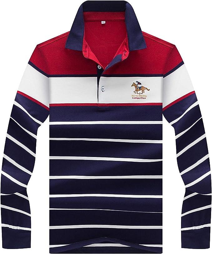 Camisas Hombre Hombre Oversize Manga Larga Polo Golf Business ...