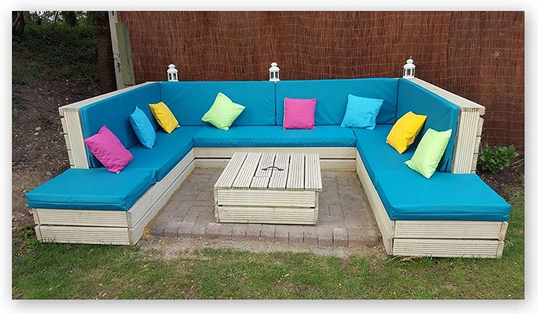Cita y muestras de tela para cojines hecho a medida impermeable para – palet para muebles – muebles de ratán – muebles de jardín – más de 20 colores: Amazon.es: Hogar