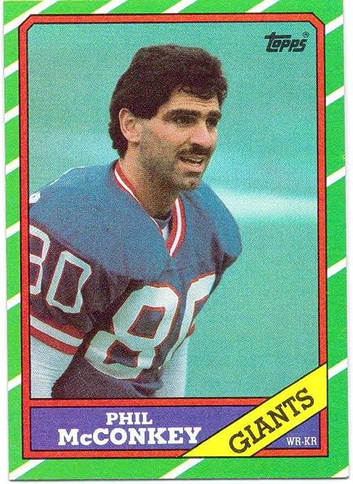 Phil McConkey 1986 Topps Rookie #143 - New York Giants at Amazon's ...