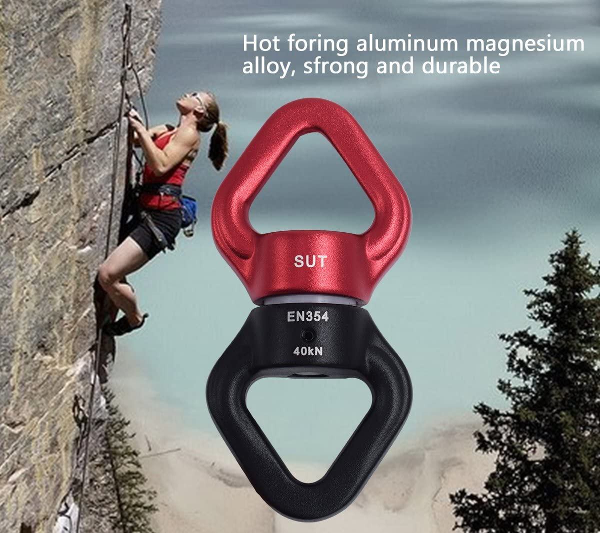 Newdoar Swing Hardware Swivels Safety Rotational Device Hanging for Aerial Dance Climbing Swing Setting