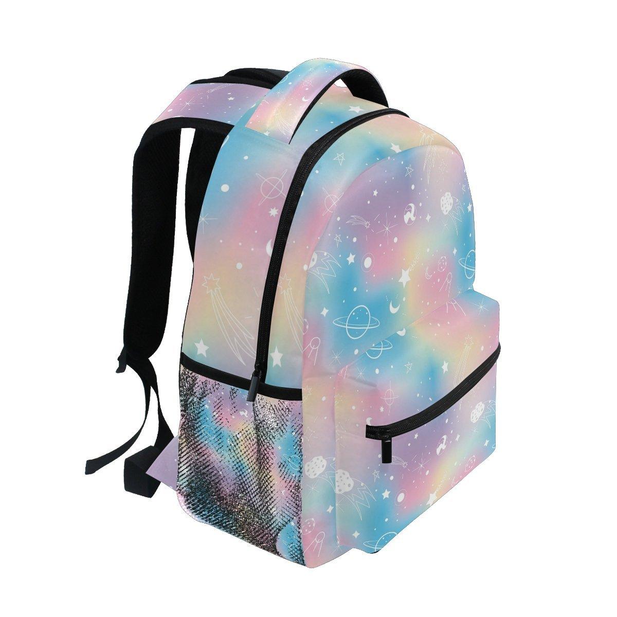 bd3a3448c185 Amazon.com  ZOEO School Backpacks Unicorn Rainbow Planet 3th 4th 5th Grade  Travel Daypack Bag Purse for Boys Girls  ZOEO