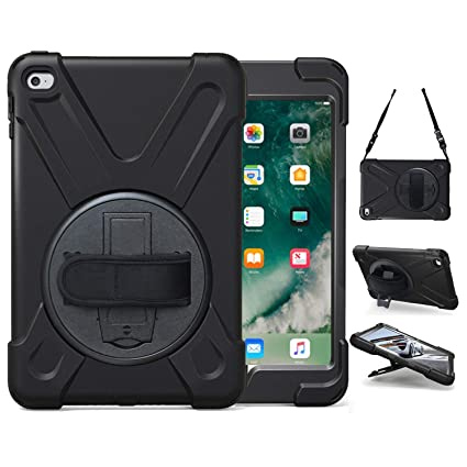 Official Website For Ipad Mini4 Shockproof Kids Protector Case For Ipad Mini 4 Heavy Duty Silicone Hard Cover Shell Shoulder Strap Tablets & E-books Case