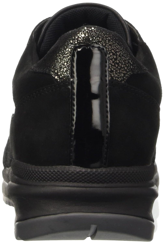Geox Damen D Airell C Niedrig-Top Sneakers mit Sportlichen Charakter Eva und Klassischer Gummisohle aus Eva Charakter für Leichtigkeit, Abfederung und Flexibilität Schwarz (schwarzc9999) 4aca2e