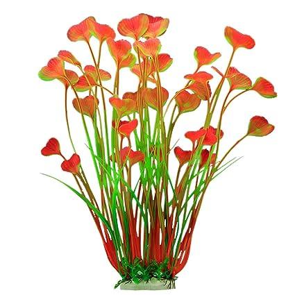 Vi.yo Planta artificial de plástico para acuario, acuario, acuario, acuario,