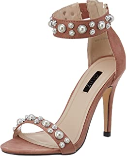 Womens Pink Pearl Ankle Strap Sandals Quiz uzku3b9w
