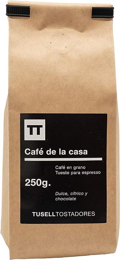 Cafe en grano natural 250g arabica 100 % - Espresso - Cafe de la Casa - Tusell Tostadores: Amazon.es: Alimentación y bebidas