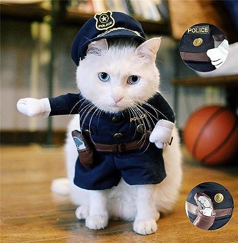 Disfraz para gato o perro StillCool de policía, divertido traje cosplay