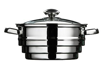 Premier Housewares Vaporera, Acero Inoxidable, 21 cm: Amazon ...