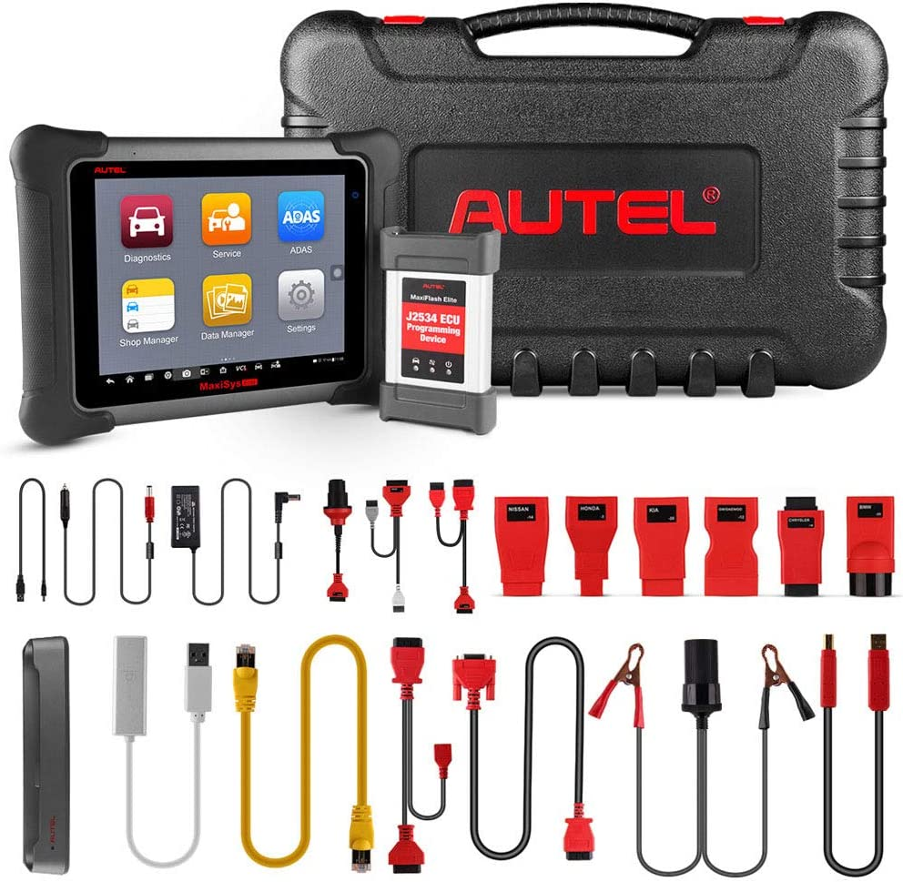 Autel MaxiSys Elite Diagnostic Scanner ECU J2534 Programming Active Test 36 Service Functions Ultimate Scan Tool for Professionals with Garage or Auto Repairing Shops Coding