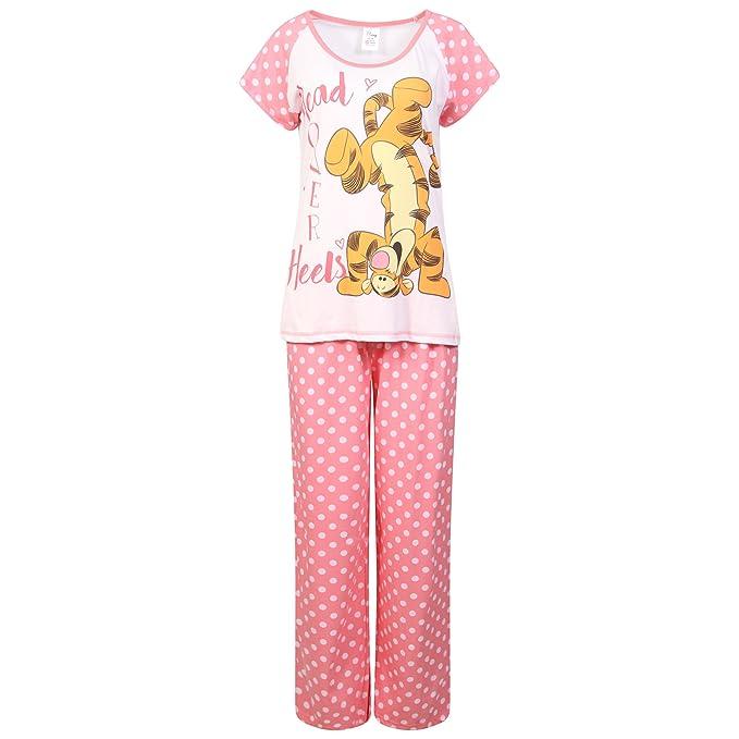 Conjunto de Pijama para Mujer con diseño de Minnie Mouse, de algodón Rosa Tigger