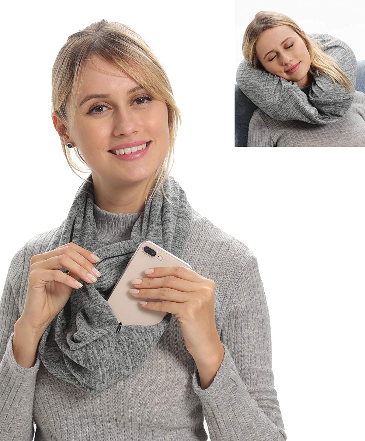 Travel Pocket Scarf With...