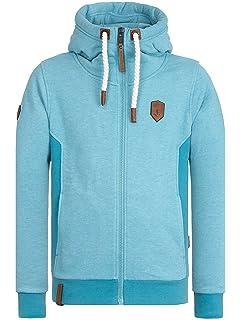 Amazon.com   Naketano Men s Zipped Jacket Birol Jeck Indigo Blue ... 397ba0c585