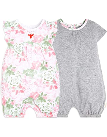 bdabdf9f7 Burt's Bees Baby Baby Girls Rompers, Set of 2 Bubbles, One Piece Jumpsuits,