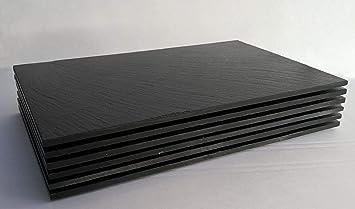Natur Schiefer 6 Stk Platzset Tischset Servierplatte 30x20