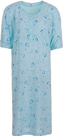 Lucky – Noche Camisa de Manga Corta feminines Puntos de impresión con Bordado – Grosse Tallas 3 x l de 6 x l: Amazon.es: Ropa y accesorios