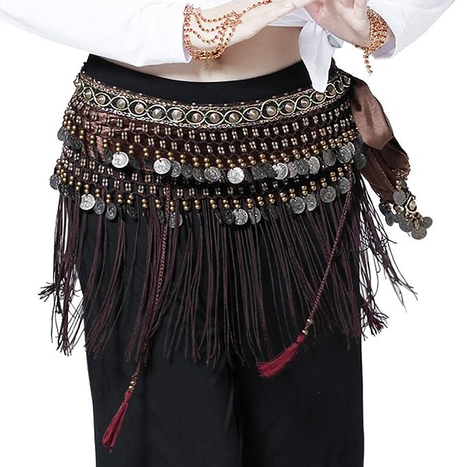 Belly Dancing Clothing Skirt Dance Wear Accessory Coin Fringe Tassel BELT