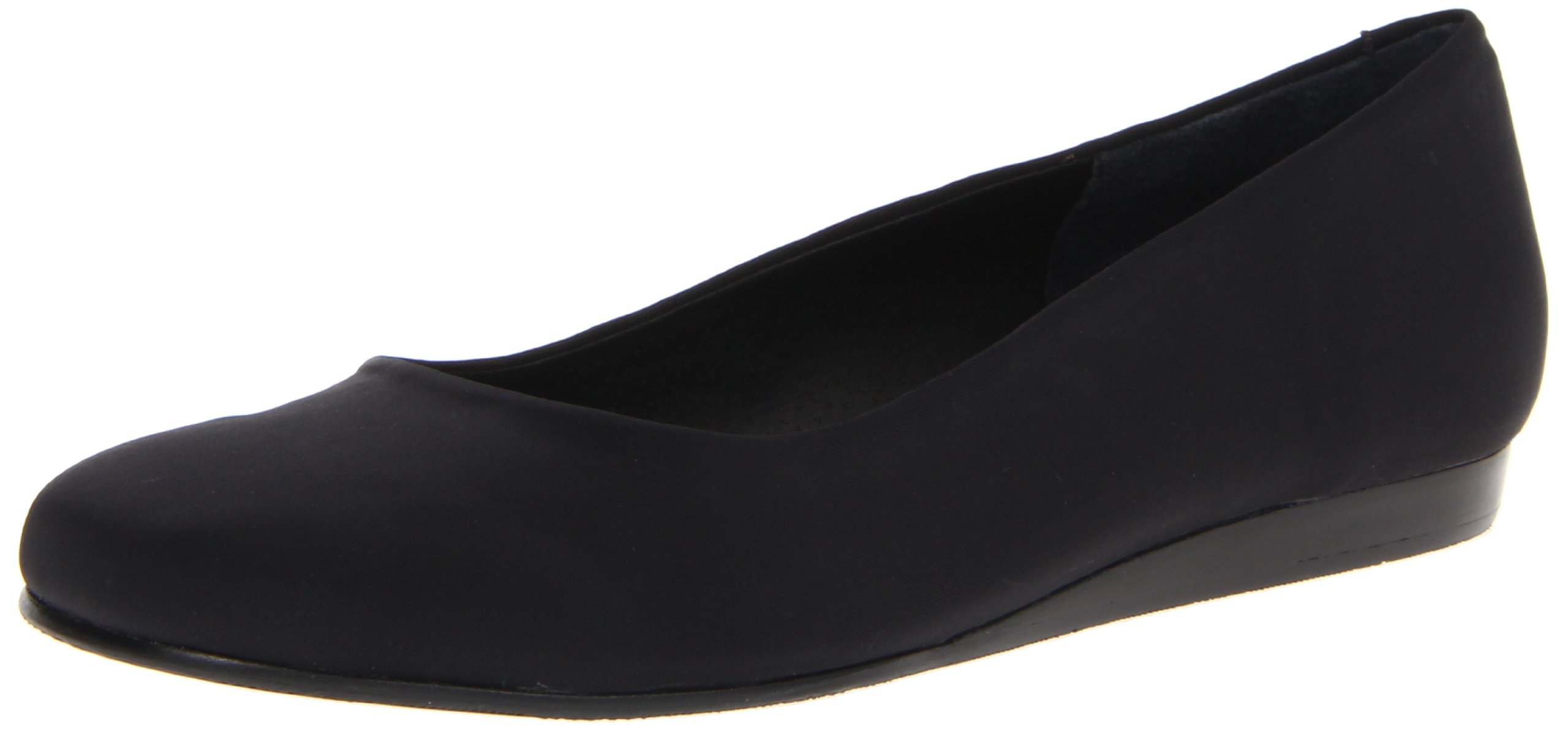 Rose Petals Women's Fine Ballet Flat,Black Stretch,5.5 M US