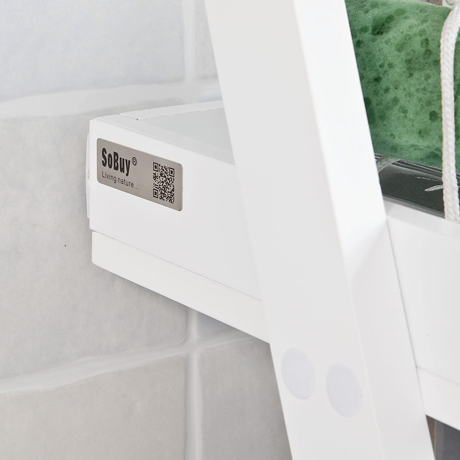 SoBuy/® pared estanter/ía toallero frg117/ de W estanter/ía de pared para ba/ño con 2/ estantes y una barra