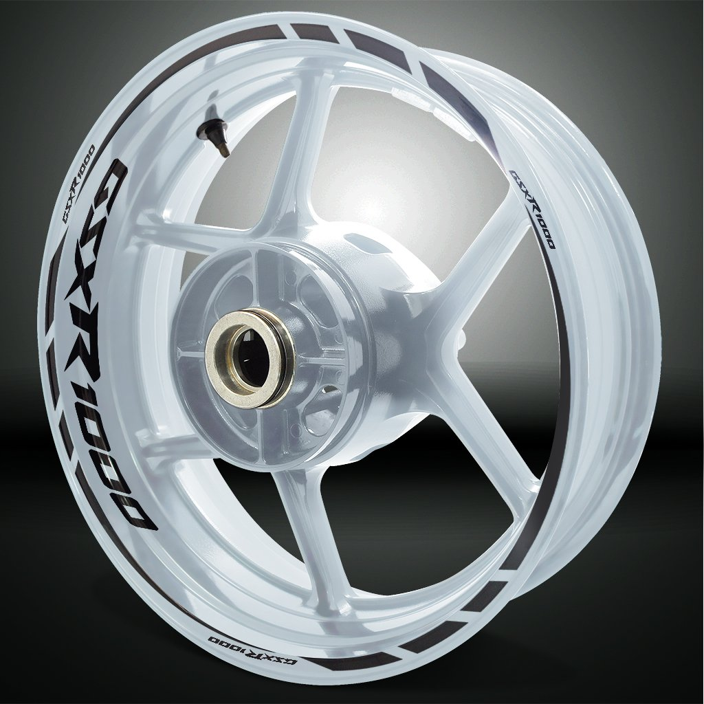 Gloss Red Motorcycle Rim Wheel Decal Accessory Sticker For Suzuki GSXR 1000