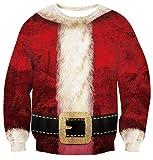 Leapparel Christmas Santa Claus Snowman Print