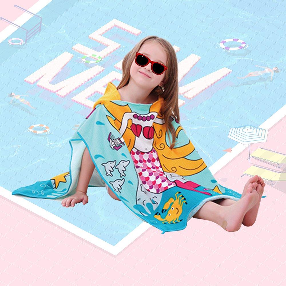 Xplanet Toddler Beach Bath Towel, Multi-use for Hooded Poncho Swim Beach Pool Poncho Bath Towel, Home Bath Robe for Kids Child 2-7 Years Boy&Girls by Xplanet (Image #6)