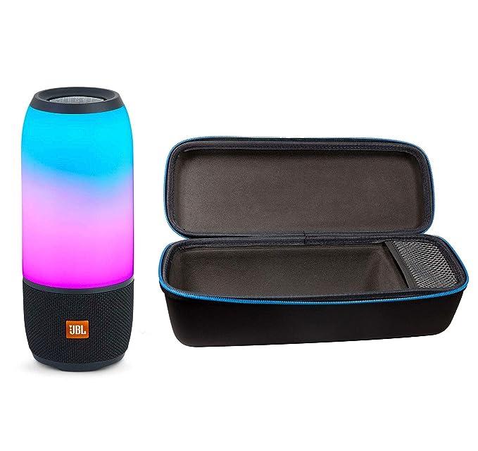 JBL Pulse 3 Wireless Bluetooth IPX7 Waterproof Speaker Bundle with Portable Hardshell Travel Case (Black)