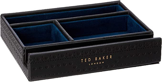 Brown Brogue Travel Wallet with Pen in Presentation Gift Box Ted Baker