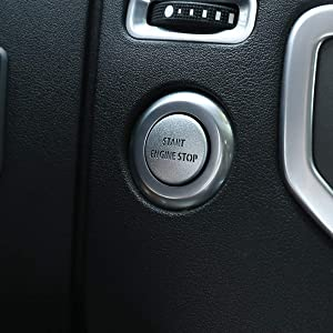 LLKUANG for LR4 Discovery 4 & Land Rover Range Rover Sport 10-13 Silver Engine Start Stop Push Button Switch Sticker Cover Aluminum Alloy Car Accessory