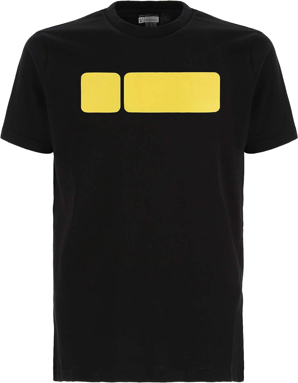 FREDDY T-SHIRT S9MCYLT1N GIROCOLLO COTONE MODA UOMO FASHION LIFESTYLE BLACK